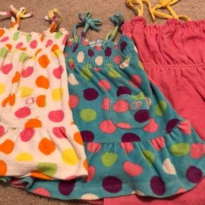 Lot of 3 size 4T terry cloth cover-ups